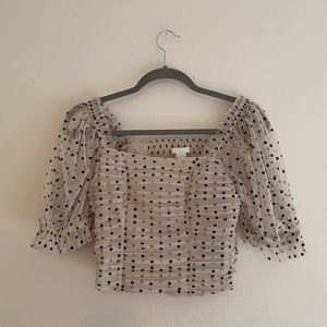 H&M Polka Dot Crop Top